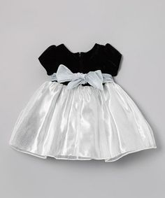 Take a look at this Silver & Black Triple Blossom Dress - Infant by Nannette on #zulily today!