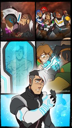 "zillabean: "" zillabean: "" roborails: "" zillabean: "" So I've had this silly headcanon rolling around in my head for some time now but what if later in the series, Shiro gets seriously hurt in a massive...(Photo set)"