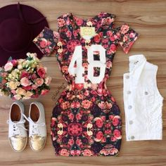 Skirt Outfits, Cool Outfits, Summer Outfits, Casual Outfits, Teen Fashion, Fashion Outfits, Womens Fashion, Cute Dresses, Short Sleeve Dresses