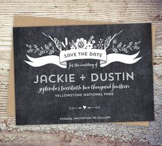 Customizable Rustic Save the Date Cards   Wedding by sdstationery