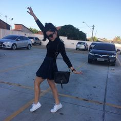 clothes white shoes nike style jeans street casual tênis young style blackandwhite b&w look nikeair saia godê