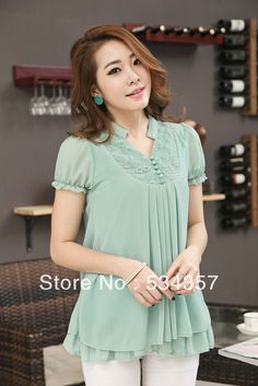 Blouses for women – Lady Dress Designs Sleeves Designs For Dresses, Dress Neck Designs, Blouse Designs, Stylish Dress Designs, Stylish Dresses, Fashion Dresses, Fashion Clothes, Kurta Neck Design, Fancy Tops