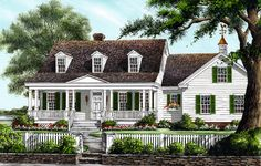 Colonial Cottage Country Southern House Plan 86273