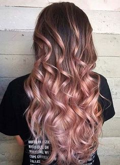 Braun nach Rosengold Ombre Hairstyles 2018