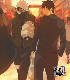 Would have love to see them more acting together. #Tenzou #Kakashi << This picture proves it... Yamato IS HOT!!!