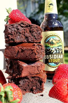 Obsidian Stout Chocolate Brownies