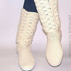 Crochet boots : Lace boots for women  PDF pattern for crochet by magic4kids