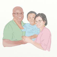 illustration potrait family