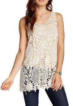 Natural Crocheted Tank Fashion Top (PRE-ORDER)