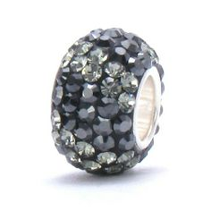 Bella Fascini Hematite Metalic Black & Gray Stripe Crystal Pave Sparkle Bling - Solid .925 Sterling Silver Core European Charm Bead Made with Authentic Swarovski Crystals - Compatible Brand Bracelets : Authentic Pandora, Chamilia, Moress, Troll, Ohm, Zable, Biagi, Kay's Charmed Memories, Kohl's, Persona & more! Bella Fascini Beads,http://www.amazon.com/dp/B007H1EW72/ref=cm_sw_r_pi_dp_43XZsb0RBH3CJW5H