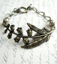 Brass Woodland Flower Bracelet.