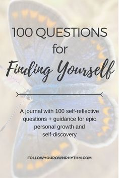 Questions are a great way to get to know yourself and to identify false beliefs that you have.  Let this journal guide you to your true self with 100 self-reflective questions and guidance in between.  Go on an epic journey of personal growth and self-discovery in this comprehensive guide!  ---self reflection/self-awareness/inner truth/ true self/ workbook/ resources / find your true self | life coaching  | soul searching