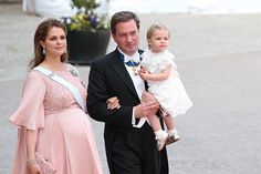 Two days after attending her brother's wedding, Princess Madeleine of Sweden gives birth to a baby boy.