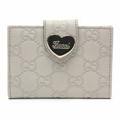 Gucci Beige Guccissima Leather Heart Wallet