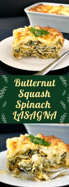 Butternut squash spinach lasagna, a delicious vegetarian dish that gives comfort food a new meaning. Very easy to make, this recipe can be enjoyed by the whole family, from little to big ones. A great choice for a vegetarian Thanksgiving. #vegetarianthanksgivingrecipes , #butternutsquashlasagna, #vegetarianlasagna , #familydinnerrecipes
