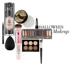 """halloween makeup"" by s0mewhereinnev3rland ❤ liked on Polyvore featuring Kat Von D, beautyblender, tarte, Too Faced Cosmetics, Urban Decay, Anastasia Beverly Hills and Sephora Collection"