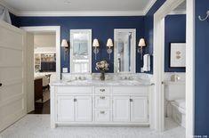 Navy Blue Bathroom Paint