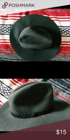 Black indie hat by TART Black indie hat by TART. Never worn. One size. Charcoal grey/ Black Tart Accessories Hats