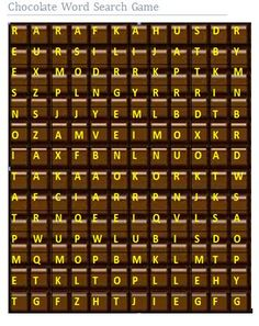 chocolate word search game
