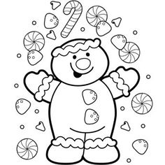 Gingerbread Coloring Page - http://designkids.info/gingerbread-coloring-page.html  #designkids #coloringpages #kidsdesign #kids #design #coloring #page #room #kidsroom