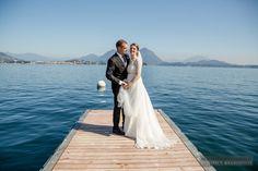 Wedding on Lake Maggiore - Wedding Dress - Bride and Groom | #michelarezzonico #weddingphotographer #guastinistyle #weddingplanner