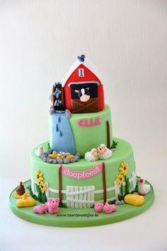 farm cake boerderij thema