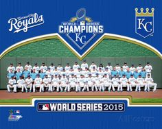 Kansas City Royals 2015 World Series Champions Team Sit Down Photo at AllPosters.com