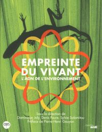 Empreinte du vivant : l'ADN de l'environnement / sous la direction de Dominique Joly, Denis Faure, Sylvie Salamitou ; préface de Pierre-Henri Gouyon, Paris : Cherche midi, 2015 BU LILLE 1, Cote 572.86 EMP http://catalogue.univ-lille1.fr/F/?func=find-b&find_code=SYS&adjacent=N&local_base=LIL01&request=000627057
