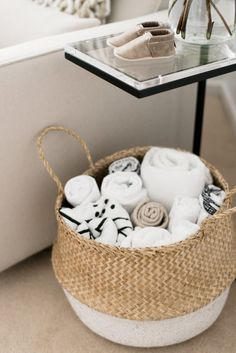 Project Nursery - basket for blankets