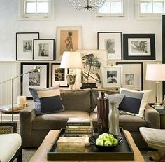 great sofa and focal wall