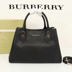 Burberry Medium Leather Top Handle Bag In Black Outlet Burberry Cheap Sale Store Burberry Outlet Online, Cheap Burberry, Buy Cheap, Calf Leather, Black Tops, Calves, Shoulder Strap, Hardware, Handle