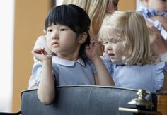 bodyfluids: royalwatcher: Princess Amalia of the Netherlands and Princess Aiko of Japan Aiko is serving #looks