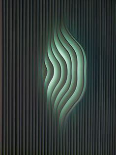 This is a classic example of a really simple but beautiful lighting effect using layers of material that block the direct light but reflect it indirectly creating a very sophisticated and relaxing effect Parametrisches Design, Design Visual, Design Light, Deco Design, Home Design, Wall Design, Design Ideas, Graphic Design, Deco Luminaire