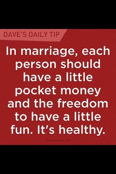 I think this saved our marriage (kidding) but there are no fights about money, that's for sure.  He has his to spend on race cars and I have mine (and the adult clothing fund) to spend on my clothes. Hey, don't judge I just outsmarted him! Lol