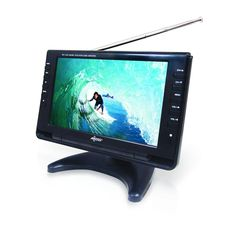 AXESS TV1703-9 9-Inch LCD TV, Features ATSC Tuner, Rechargeable Battery, USB/SD/Headphone Inputs, Full Function Remote