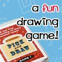 Great game to encourage speech and pretend play for preschoolers and up (Learn to draw cartoons the fun way!)