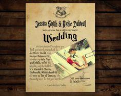 Custom Harry Potter Wedding Invitation //Letter From Hogwarts// Digital File
