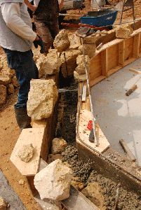 building a rock wall using slip-form: part 1