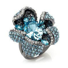 "Joan Boyce ""Flower Power"" Hematite-Tone Ring"