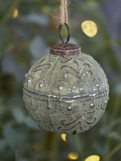 Nordic House Soft Green Bauble - Wavy - Baubles with the subtle glow of vintage green and silver detailing will make your tree glamorous and sophisticated. Bohemian Christmas, Natural Christmas, Nordic Christmas, Merry Little Christmas, Christmas Past, Green Christmas, Christmas Bulbs, Christmas Crafts, Christmas Ideas