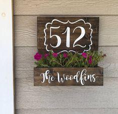 Casa número plantador plantador de la caja de madera