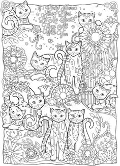 Adult Cats Cutes Coloring Pages Printable And Book To Print For Free Find More Online Kids Adults Of