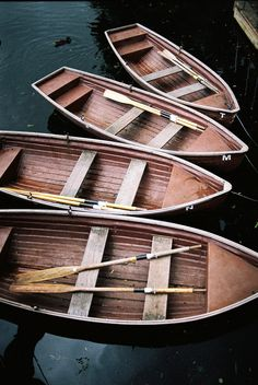 Help yourself to a rowboat .… there are plenty at the dock on the pond.