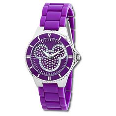purple crystal | Disney Store: Pavé Crystal Mickey Mouse Watch | Disney Dreaming