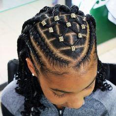 Braids for black women kids little girls cornrows 15 Super ideas - Hair - Natural Braids Updo Box Braids Hairstyles, Latest Braided Hairstyles, Natural Hairstyles For Kids, Teen Hairstyles, Little Girl Hairstyles, Twist Hairstyles, African Hairstyles For Kids, Cornrow Hairstyles Natural Hair, Children Braided Hairstyles
