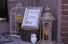 "Photo 1 of 21: Owl Theme (Yellow and Gray) / Baby Shower/Sip & See ""Look Whooo's Expecting! "" 