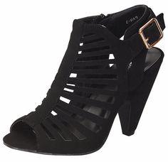 Top Moda - Women's Short Heel Shoe - Black