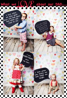 Fathers Day, Chalk Board, Words for Dad, Heart Backdrop, Child Photographer, Korindi Photography. » I Heart Photography by Korindi