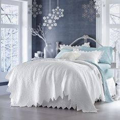 Montecito Quilt, Sham & Bedskirt from Montgomery Ward® Let's Go To Bed, White Rooms, Dark Rooms, Beautiful Bedrooms, Shabby Chic Decor, Bed Spreads, Sweet Home, Interior Design, Quilt