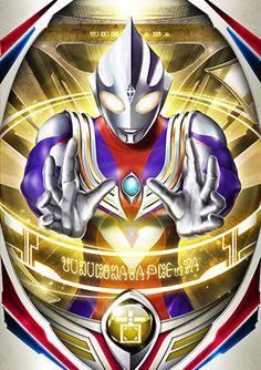 Ultraman Tiga Vintage Cartoon, Cartoon Tv, Ultraman Tiga, Fusion Card, Big Robots, Ultra Series, Kamen Rider Zi O, Cosmic Art, Birthday Bag